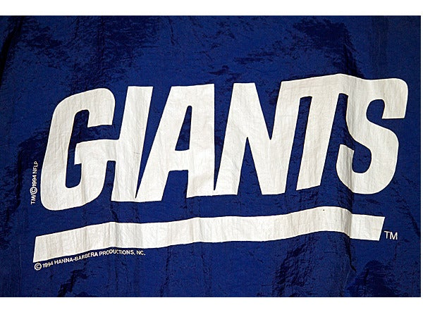Image of RARE VINTAGE NY GIANTS X HANNA BARBERA 1994 FLINSTONES JACKET