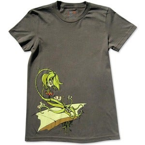 Image of LIFE CYCLES - women's olive t-shirt