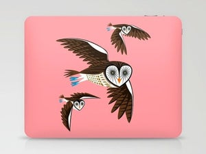 Image of Owls On The Prowl - illustrated Owl Laptop & iPad Skin
