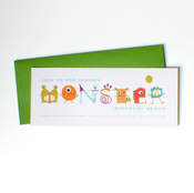 Image of monster invitations