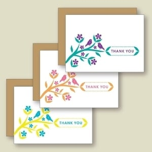 Image of Little Birds Thank You Card - Set of Six
