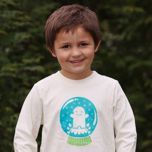 Image of Yeti Snowglobe Long Sleeve Organic Onesie/Tee
