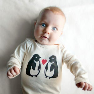 Image of Penguin Long Sleeve Organic Onesie/Tee