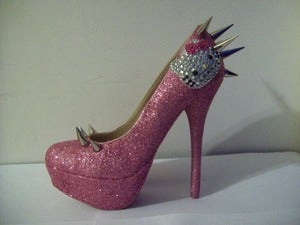 Image of HELLO KITTY HEELS (SPIKED KITTY)