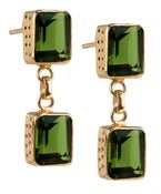 Image of Kara Ackerman <i> Judie <i/> Emerald Cut 2 Drop Peridot Earrings