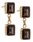 Image of Kara Ackerman <i> Judie <i/> Emerald Cut 2 Drop Smokey Topaz  Earrings