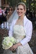 Image of Grace Modern Vintage Silk Bridal Bolero