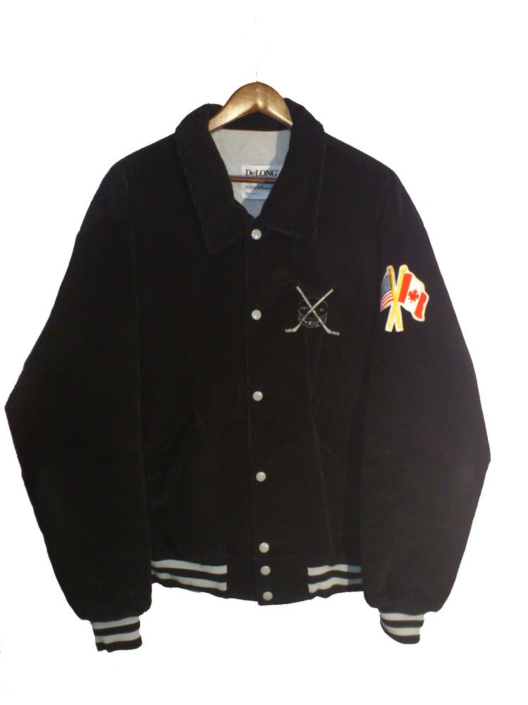 Image of Black Corduroy Bomber