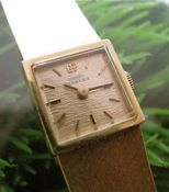 Image of VINTAGE LADIES GIRARD PERREGAUX 18k with solid 18k gold mesh band
