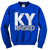Image of Ky Raised Crewneck Sweatshirt in KY Blue / White / Grey