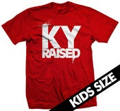 Image of Ky Raised Kids Tee in Red and White
