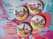 Image of CakeSpy Cuppie Around the World Pin