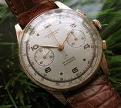 Image of VINTAGE CHRONOGRAPHE SUISSE 18K SOLID ROSE GOLD - SOLD!