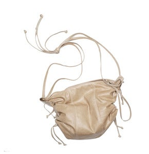 Image of BITCH BAG - Drawstring Zipper Leather Bag