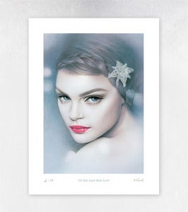 Image of Updo and Red Lips Limited Edition Print