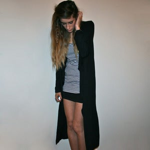 Image of Maxi Black Cardigan