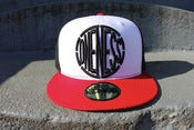Image of ONENESS LOGO FITTED NEW ERA BLACK RED WHITE