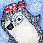 Image of Original Artwork - Tattooed Pirate Penguin