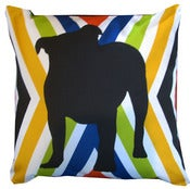 "Image of Bulldog Love 16"" x 16"" Pillow"