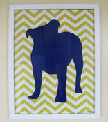 "Image of Bulldog Chevron 11"" x 14"" Print"