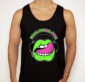 Image of Fluorescent Black Tank Top