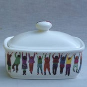 Image of Alice Mara - Hanging People Butter Dish