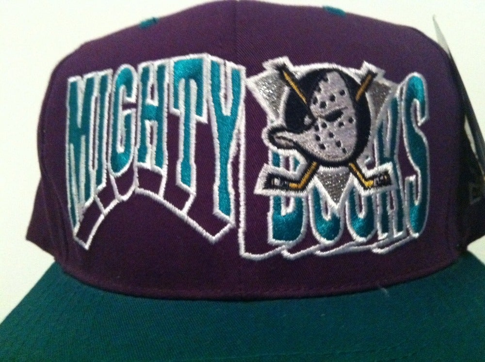 Image of Vintage Deadstock Mighty Ducks Snapback and Crewneck Combo