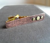 Copper and Brass Tie Bar--Metal Musings