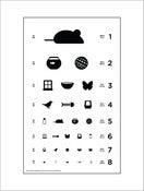 Image of 18&quot; x 24&quot; Cat Eye Chart - Standard Size Poster