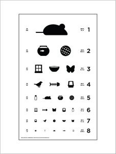 "Image of 18"" x 24"" Cat Eye Chart - Standard Size Poster"