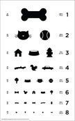 Image of 12&quot; x 19.5&quot; Dog Eye Chart - Classic Size Poster