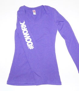 Image of #DO WORK. Long Sleeve (Purple)