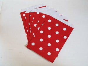 Image of Red Polka Dot Paper Bags