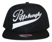 Image of Piffsburgh snapback wh/blk AVAILABLE NOW!
