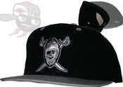Image of Los Angeles Raiders Black/Gray Snapback Hat Cap