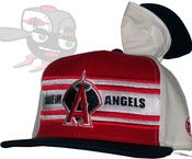 Image of Anaheim Angeles Tri-Color Snapback Hat Cap