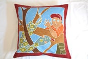Image of Boys Safari snake surprise handpainted kids cushion