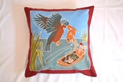 Image of Boys Safari Fish out of water Handpainted kids cushion