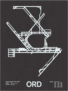 Image of ORD: Chicago O'Hare International Screenprint