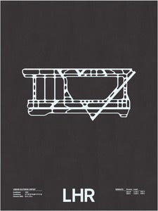 Image of LHR: London Heathrow Airport Screenprint
