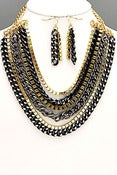 Image of Multi row Chain necklace