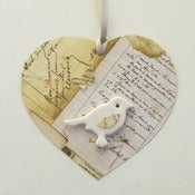 Image of Hanging Paper Heart - Love story