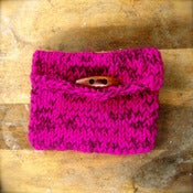 Image of Pretty in Purples Hemp and Yarn Knit Purse