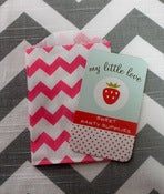 Image of Pink Mini Chevron Treat Bags