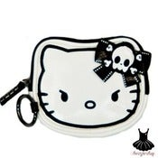 Image of HELLO KITTY ANGRY KITTY COIN BAG