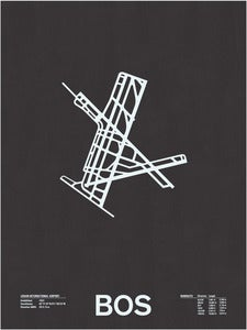 Image of BOS: Logan International Airport Screenprint