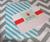 Image of Aqua Striped Treat Bags