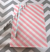 Image of Pink Striped Treat Bags
