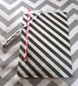 Image of Black Striped Treat Bags