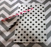 Image of Black Dots Treat Bags